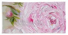 Beach Sheet featuring the painting Peony by Judith Rhue