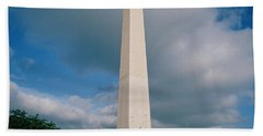 People At Washington Monument, The Beach Towel by Panoramic Images