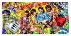 Pepperland Beach Towel by Mo T