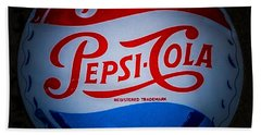 Pepsi Cap Sign Beach Towel by Mitch Shindelbower