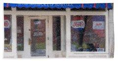 Pepsi Cola Birthplace Watercolor Beach Towel