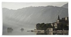 Perast Village In Montenegro Beach Towel