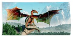 Perched Dragon Beach Towel