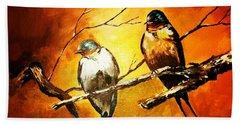 Perched Swallows Beach Sheet