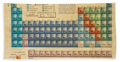 Periodic Table Of The Elements Beach Sheet by Olga Hamilton