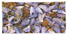 Periwinkles Muscles And Clams Beach Towel
