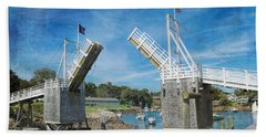 Perkins Cove Drawbridge Textured Beach Towel