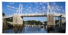 Perkins Cove - Maine Beach Towel by Steven Ralser