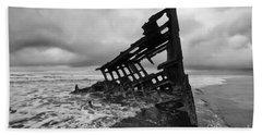 Peter Iredale Shipwreck Oregon 1 Beach Towel