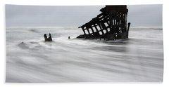 Peter Iredale Shipwreck Oregon 2 Beach Towel