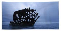 Peter Iredale Shipwreck Oregon 3 Beach Towel