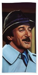 Peter Sellers As Inspector Clouseau  Beach Towel by Paul Meijering