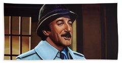 Peter Sellers As Inspector Clouseau  Beach Towel by Paul Meijering