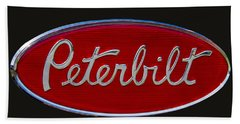 Peterbilt Semi Truck Emblem Beach Towel