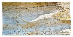 Petroglyphs At Petroglyph Point In Lava Beds Nmon-ca Beach Towel