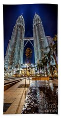 Petronas Twin Towers Beach Towel