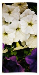 Petunias Beach Towel by Susan Kinney