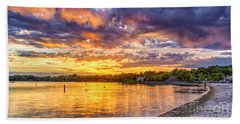 Pewaukee Orange Fury Beach Towel