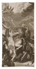 Phaeton Struck Down By Jupiter's Thunderbolt Beach Towel