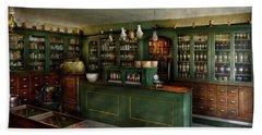 Pharmacy - The Chemist Shop  Beach Towel by Mike Savad