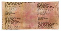 Phenomenal Woman - Red Rustic Beach Sheet