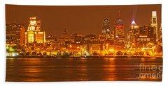 Philadelphia Across The Delaware Beach Sheet by Adam Jewell