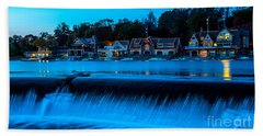 Philadelphia Boathouse Row At Sunset Beach Sheet