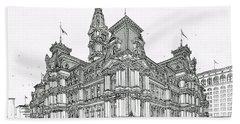 Philadelphia City Hall 1911 Beach Towel