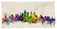 Philadelphia Skyline Beach Towels