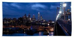 Philadelphia Twilight Beach Towel