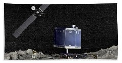 Philae Lander On Surface Of A Comet Beach Towel