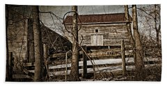 Country Barn Photograph Beach Sheet