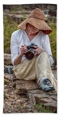 Photographer Beach Towel by Linda Unger