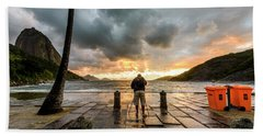 Photographer Shooting The Sunrise Beach Towel