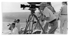Photographers Filming An Event Beach Towel