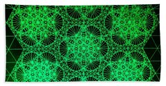 Beach Sheet featuring the drawing Photon Interference Fractal by Jason Padgett
