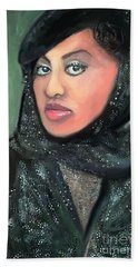 Beach Towel featuring the digital art Phyllis Hyman by Vannetta Ferguson