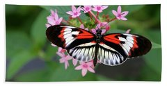 Piano Key Butterfly On Pink Penta Beach Sheet