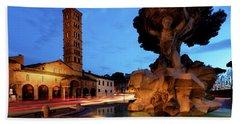 Piazza Della Bocca Della Verita' Beach Towel