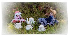 Picnic For Dolls Beach Towel