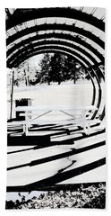 Picnic Table And Gazebo Beach Towel