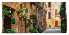 Pienza Street Beach Towel
