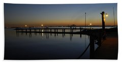Pier At Chandlers Landing Rockwall Tx Beach Towel
