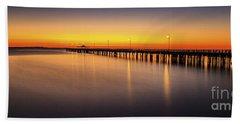 Pier Before Dawn Beach Towel