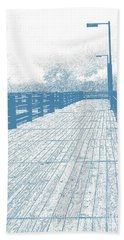 Pier In Blue Beach Towel