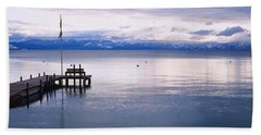 Pier On The Water, Lake Tahoe Beach Towel