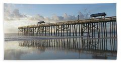 Pier Reflection Beach Towel