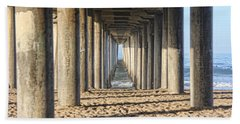 Beach Towel featuring the photograph Pier by Tammy Espino