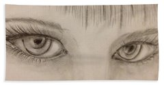 Piercing Eyes Beach Sheet