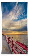 Pierhead October Sky Beach Towel